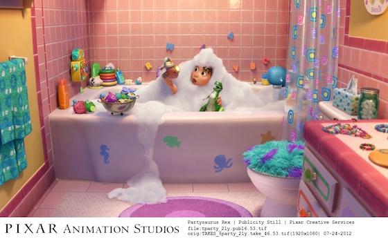 Pixar animation Partysaurus Rex Vorfilm zu Findet Nemo im Kino