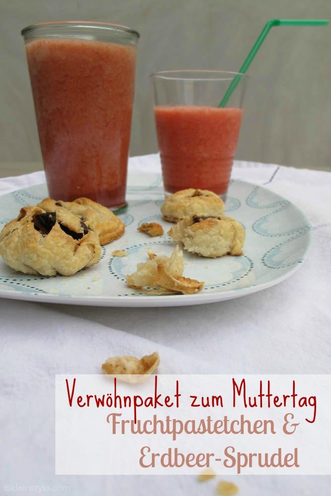 food friday auf kleinstyle muttertag paket fruchtpastetchen und erdbeer sprudel, rezepte fuer und mit kindern
