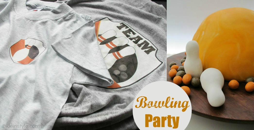 Bowling : eine Kinderparty!