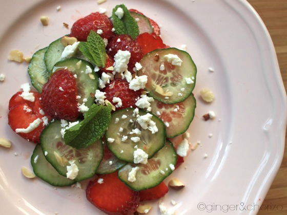Food Friday : Strawberry and Cucumber Salad