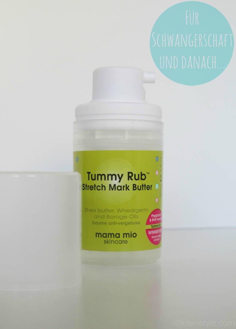 MAMA MIO testprodukte Tummy Rub Stretch Mark Butter by kleinstyle.com
