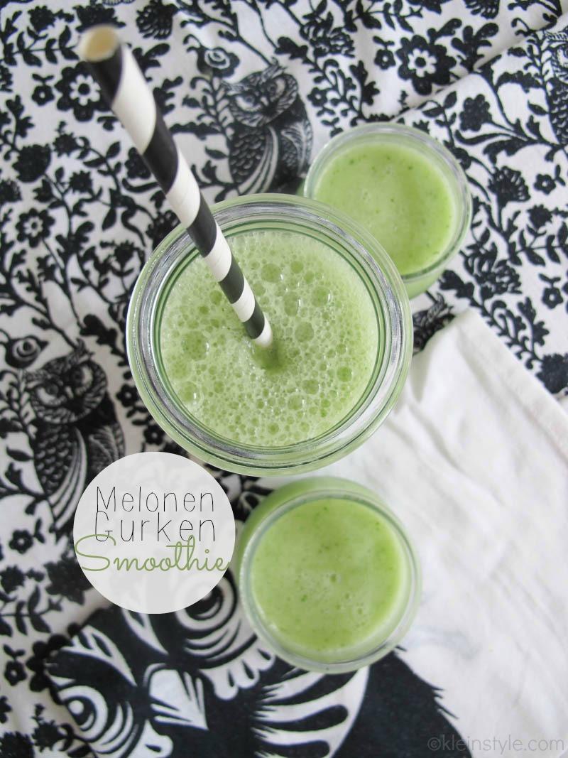 Food Friday : sommerlich erfrischender Melonen-Gurken-Smoothie