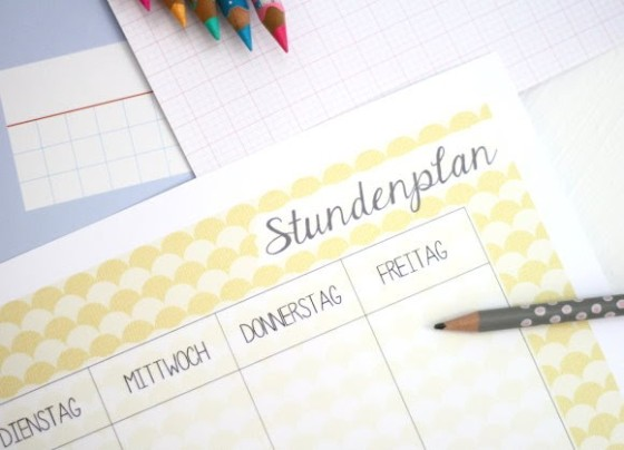 Schulstart : gratis Stundenplan download