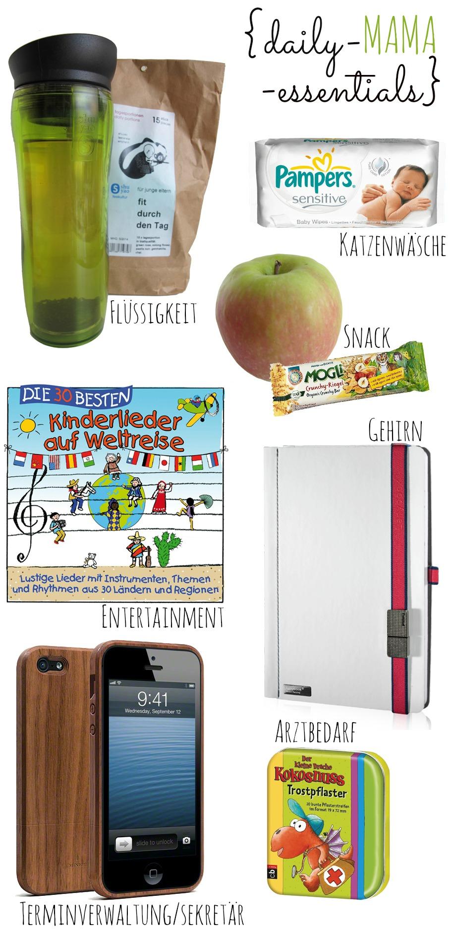 mama unterwegs daily mama essentials auf kleinstlye