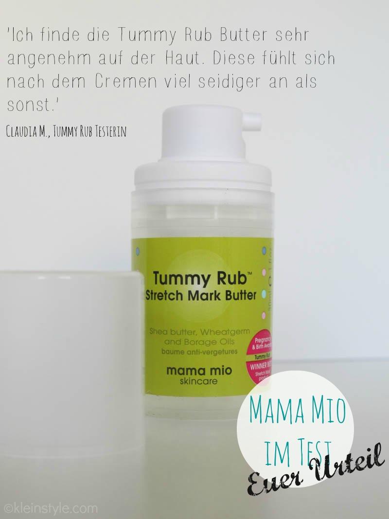 MAMA MIO IM TEST tummy rub Butter zitat by kleinstyle.com