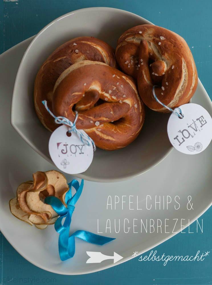 (Deutsch) Food Friday : Apfelchips und Laugenbrezeln
