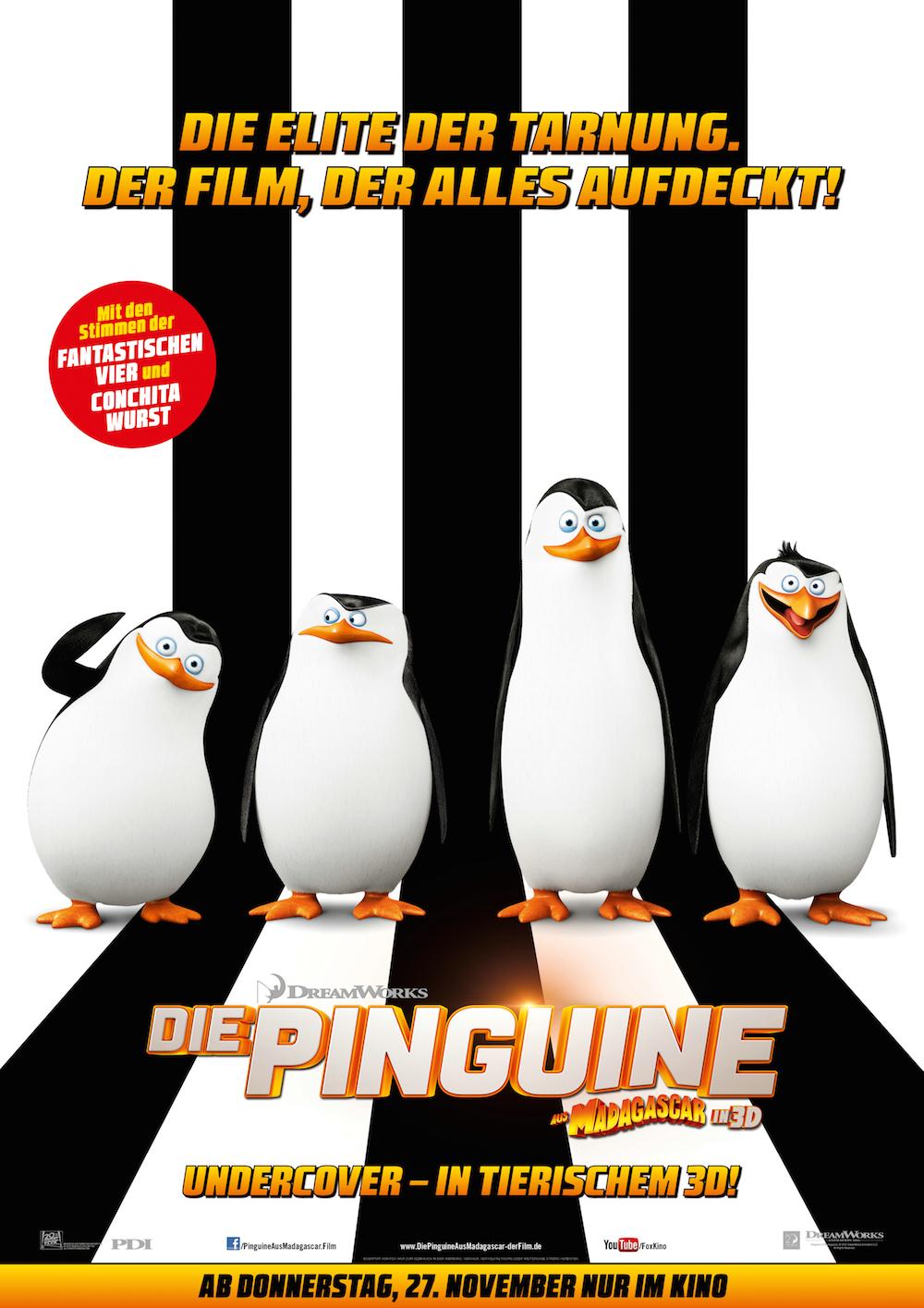 die pinguine aus Madagascar - Dreamworks Kinofilm Plakat