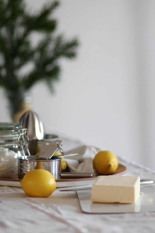 rein pflanzliche Zitronenkekse Rezept aus Mein veganer Adventskalender von Franzi Schädel Kosmos Verlag by ©kleinstyle.com for BYW project