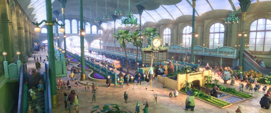 ZOOTOPIAZOOTOPIA – TRAIN STATION. ©2016 Disney. All Rights Reserved.