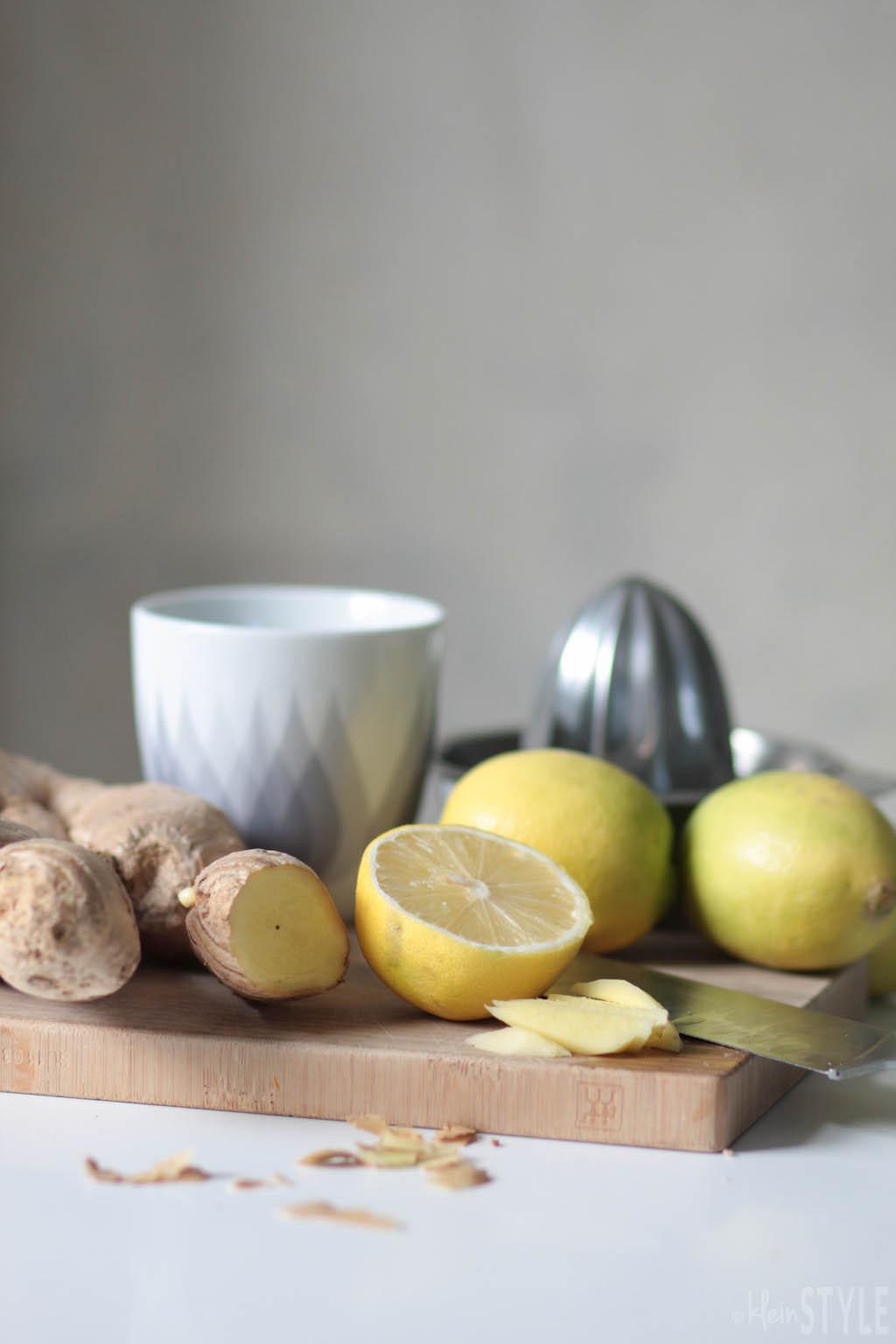 Fastenzeit clean eating Challenge zitronene ingwer tee by kleinstyle.com