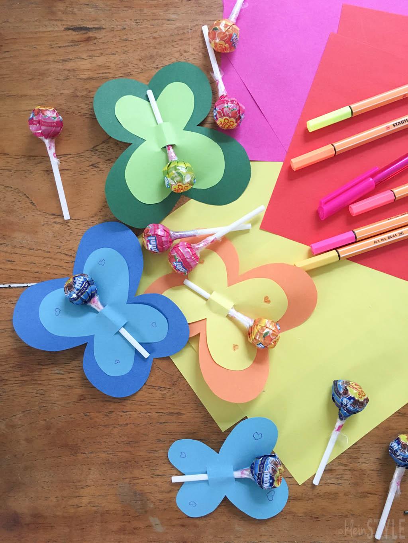 Valentinstag - Lollipop - Schmetterlinge einfaches DIY by kleinstyle.com