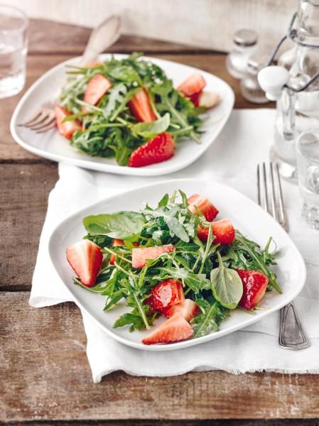 Erdbeer-Rucola-Salat