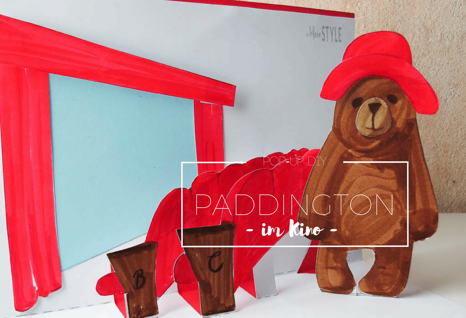 Paddington im Kino Pop up DIY by kleinstyle.com COVER
