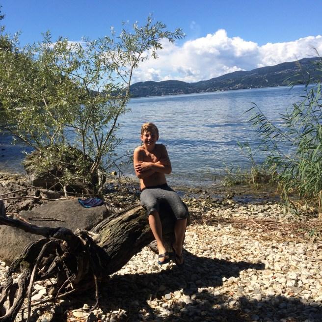 Baden im Lago Maggiore