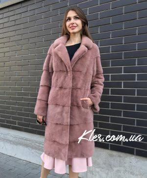 Норковая шуба розовая английский воротник Nafa | Шубы цены ...