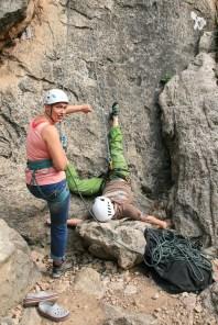 Mallorca klettern outdoor sturz