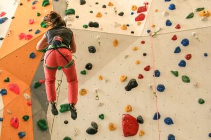 Sturz klettern Indoor
