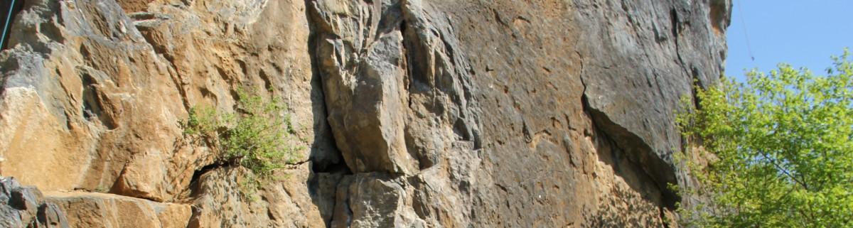 Klettergebiet Borghauser Wand, Klettern