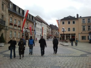 The band as we walk through the streets of Bayreuth