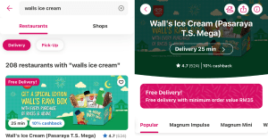 Wall's Ice Cream Free Delivery