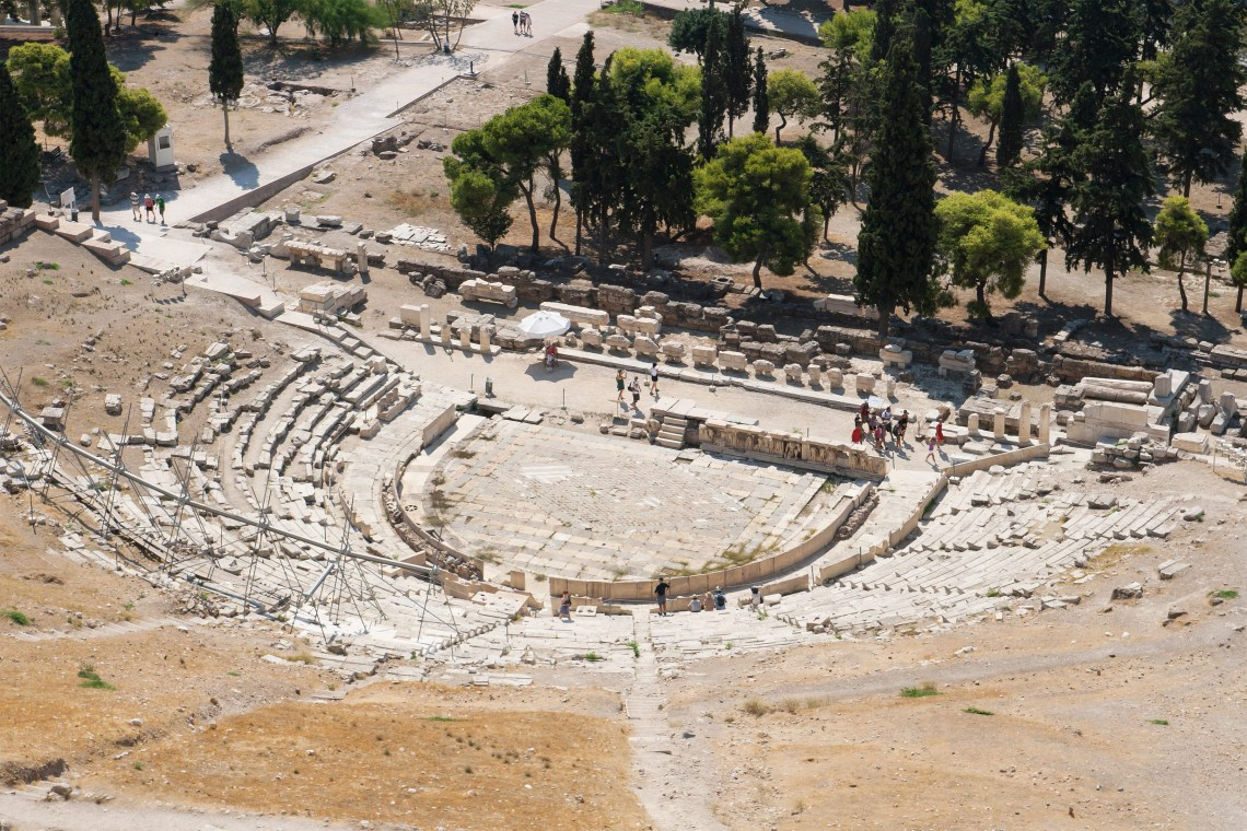 Theatre of Dionysus Acropolis family guided tour kids love greece Athens Percy Jackson Mythology Family Trip 7-day Package activities for families