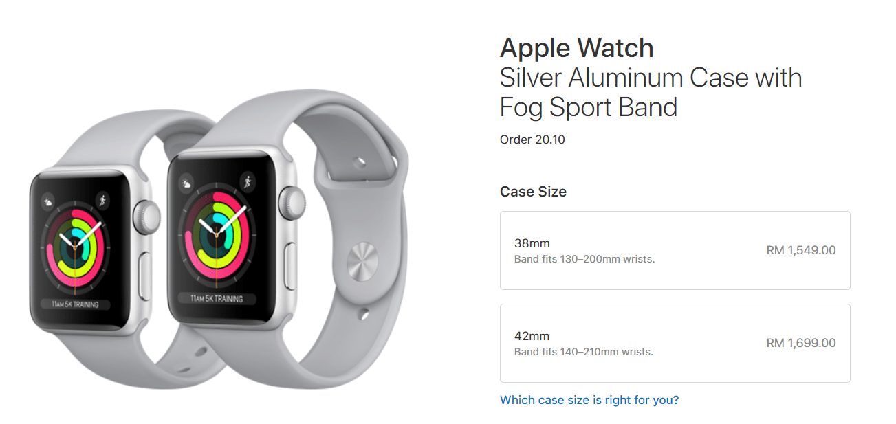 apple watch series 3 will retail from rm1549 klgadgetguy. Black Bedroom Furniture Sets. Home Design Ideas