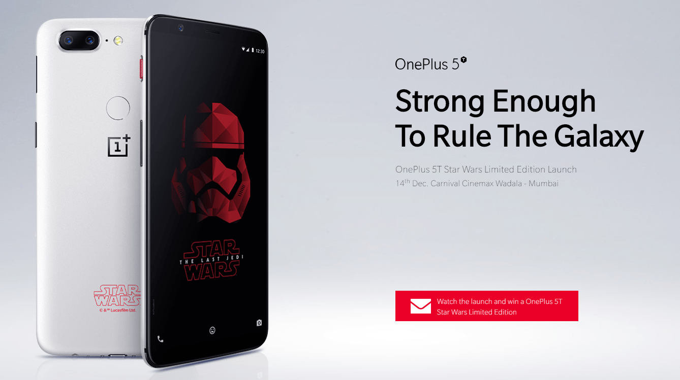 OnePlus 5T Star Wars Edition Will Be on Sale