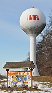 Wasserturm in Linden Michigan