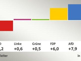 Bundestagswahl 2017 Gewinne und Verluste