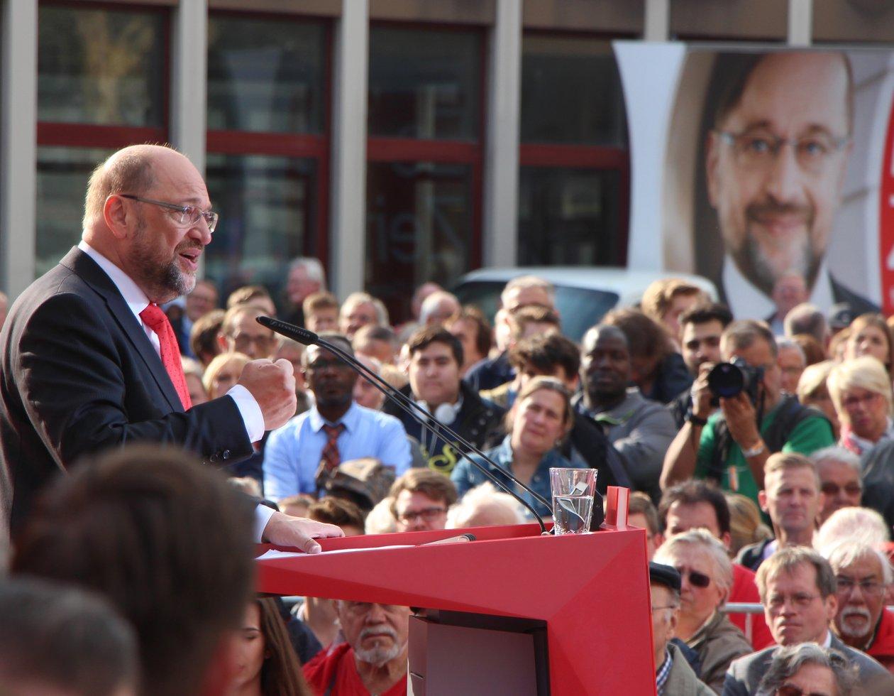 Martin Schulz Wahlkampfrede 2017 in Gelsenkirchen