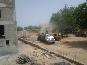 Hilton N'Djamena concrete work.