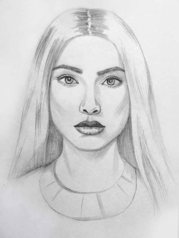 Картинки девушек для срисовки карандашом (30 рисунков ...
