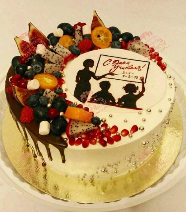 Картинки тортов с надписью на День Учителя (25 фото)