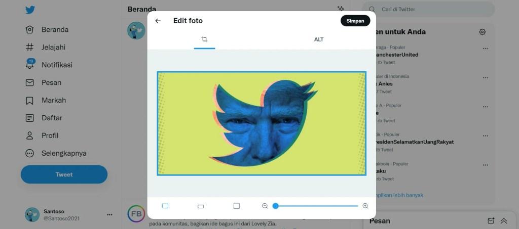 cara upload gambar di twitter
