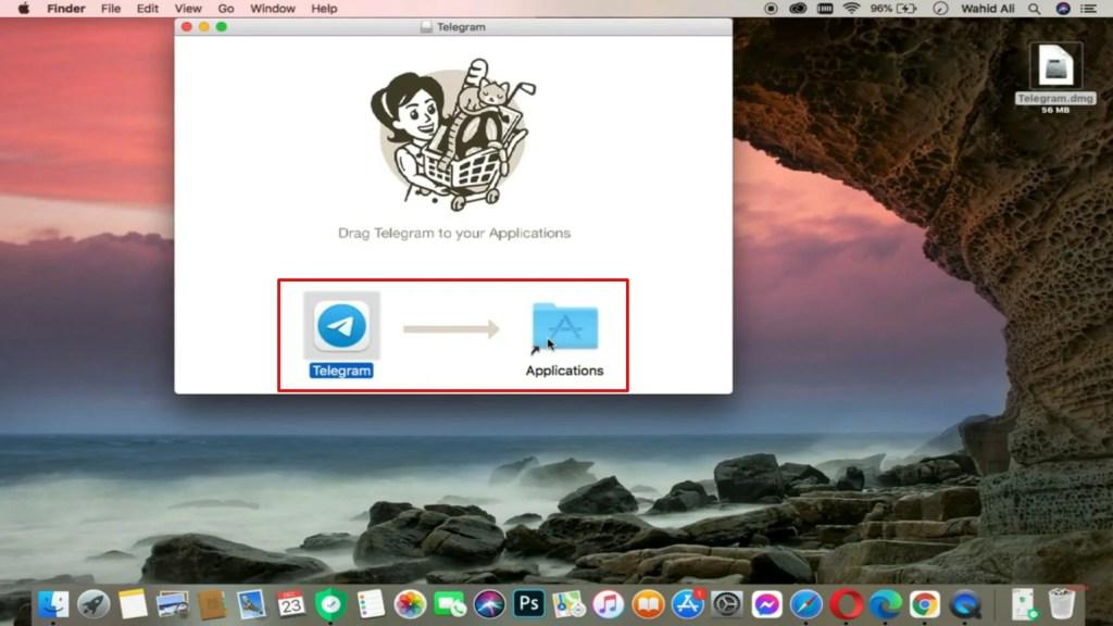 cara install telegram di macbook