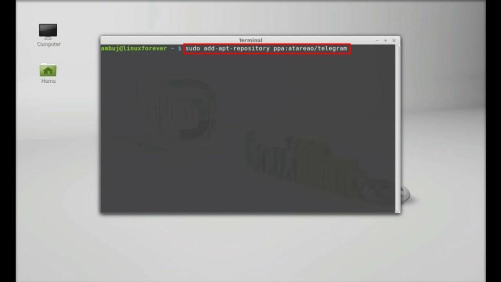 cara install telegram di pc linux