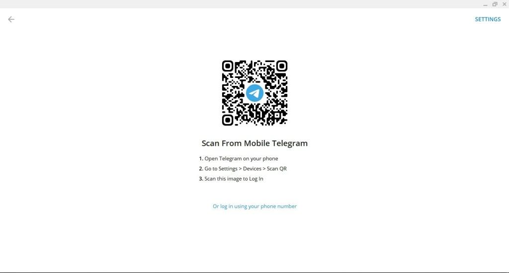 cara login telegram di laptop