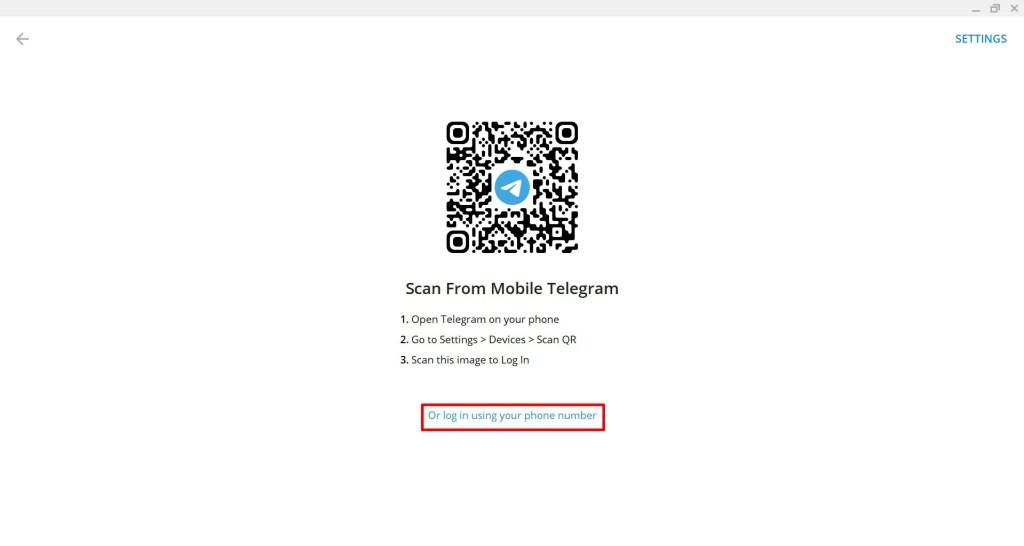 cara login telegram dengan nomor hp