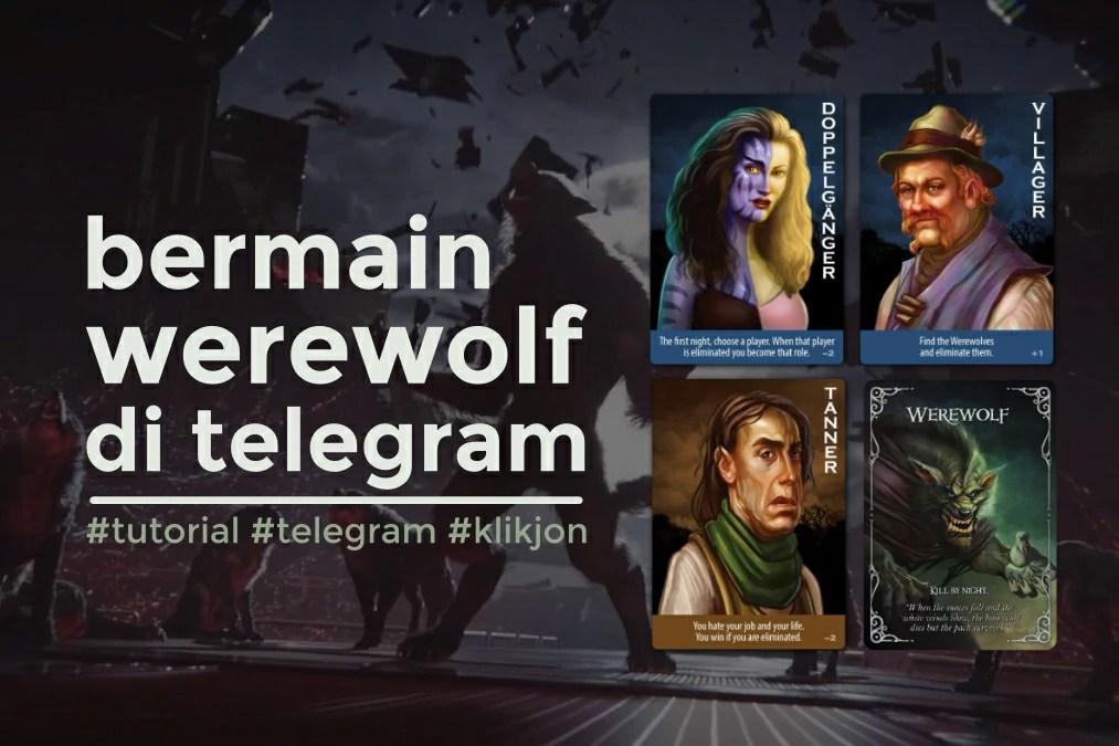 cara main werewolf game telegram
