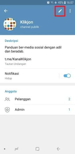 cara channel telegram ada komentar