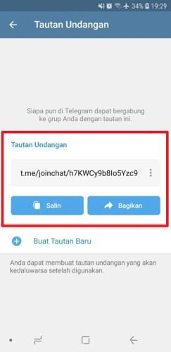 cara membuat tautan grup telegram