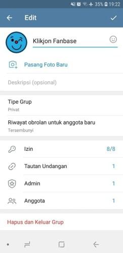 cara setting grup telegram