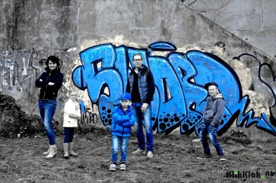Stoere fotoreportage gezin graffiti Utrecht