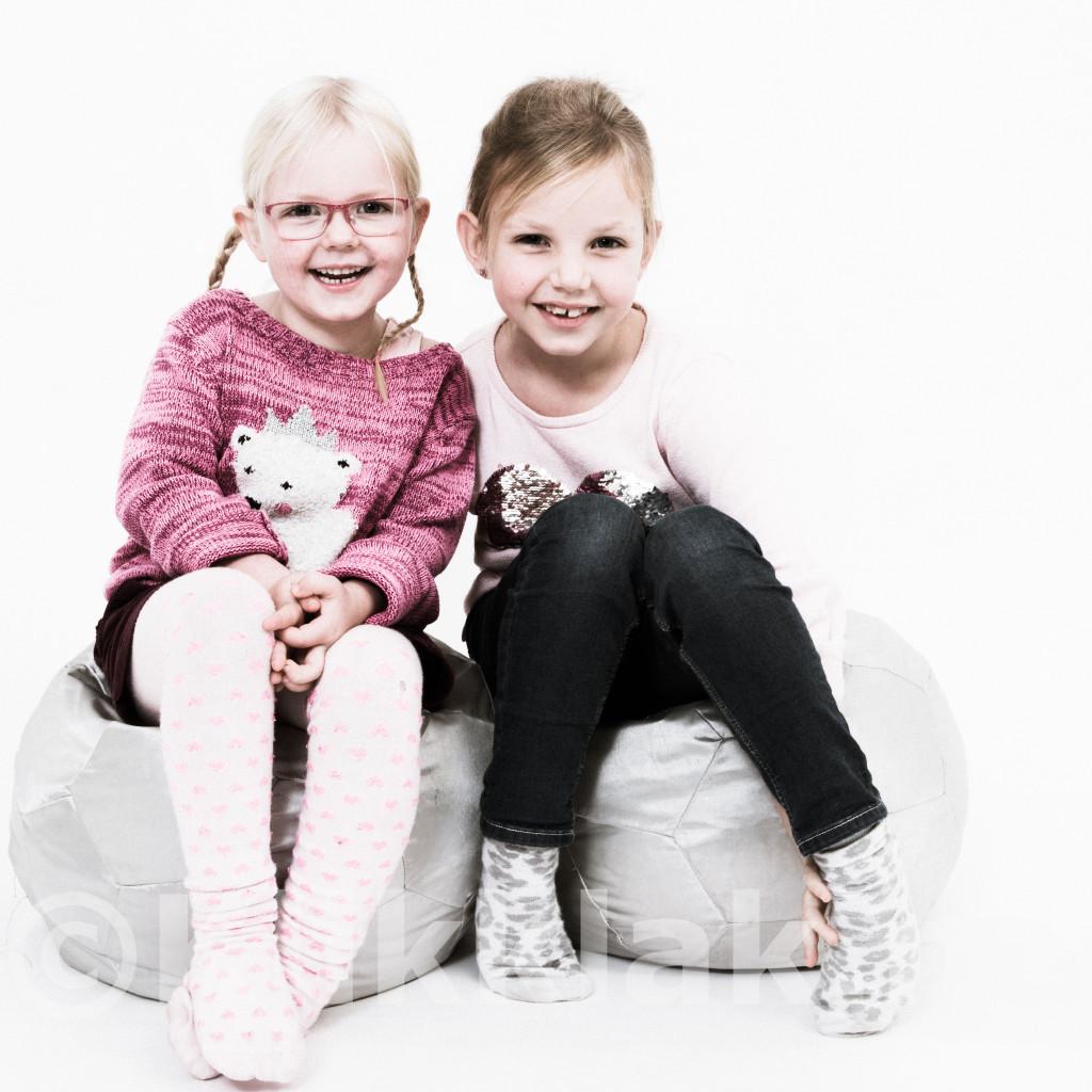 Fotoshoot met kinderen in de studio
