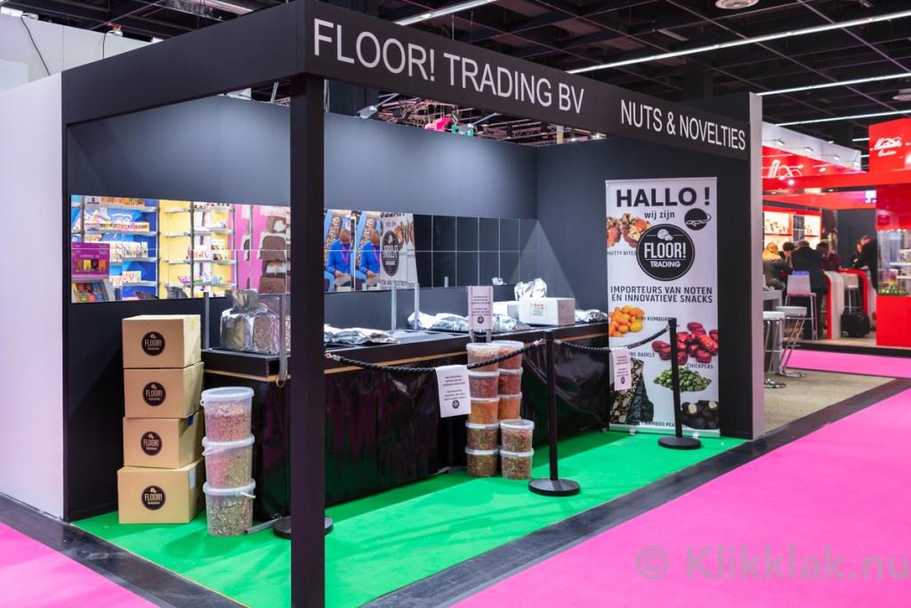 Stand van FloorTrading op de ISM 2019 in Köln. Gebouwd door Salut Expo.