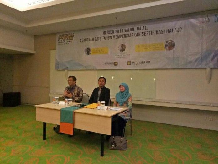 Seminar Sertifikasi wajib halal yang digelar oleh PRABU Indonesia
