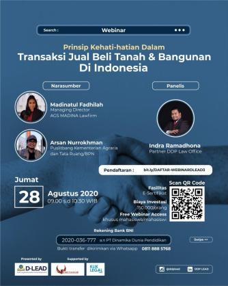 """""""Prinsip Kehati-hatian dalam Transaksi Jual Beli Tanah & bangunan di Indonesia"""""""