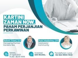 """Webinar: """"Kartini Jaman Now: Paham Perjanjian Perkawinan"""""""