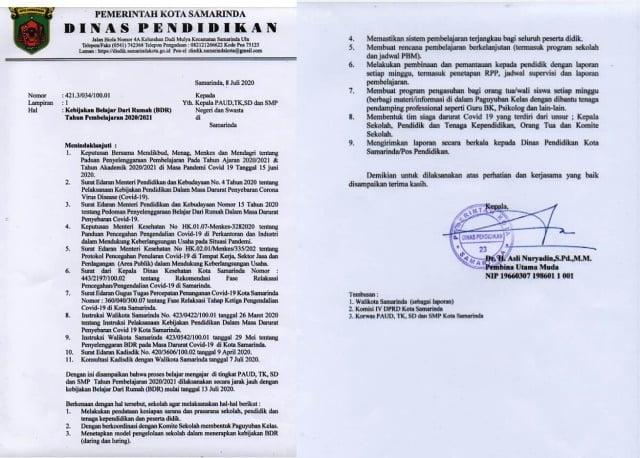 surat dinas pendidikan