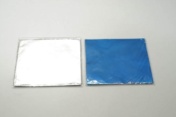 Φυλλαράκι Αλουμινίου Χρωματιστό 12.5x12.5cm 100ΤΕΜ
